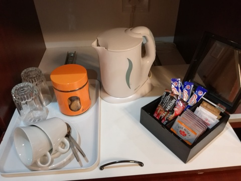 Tea/coffee station in all rooms